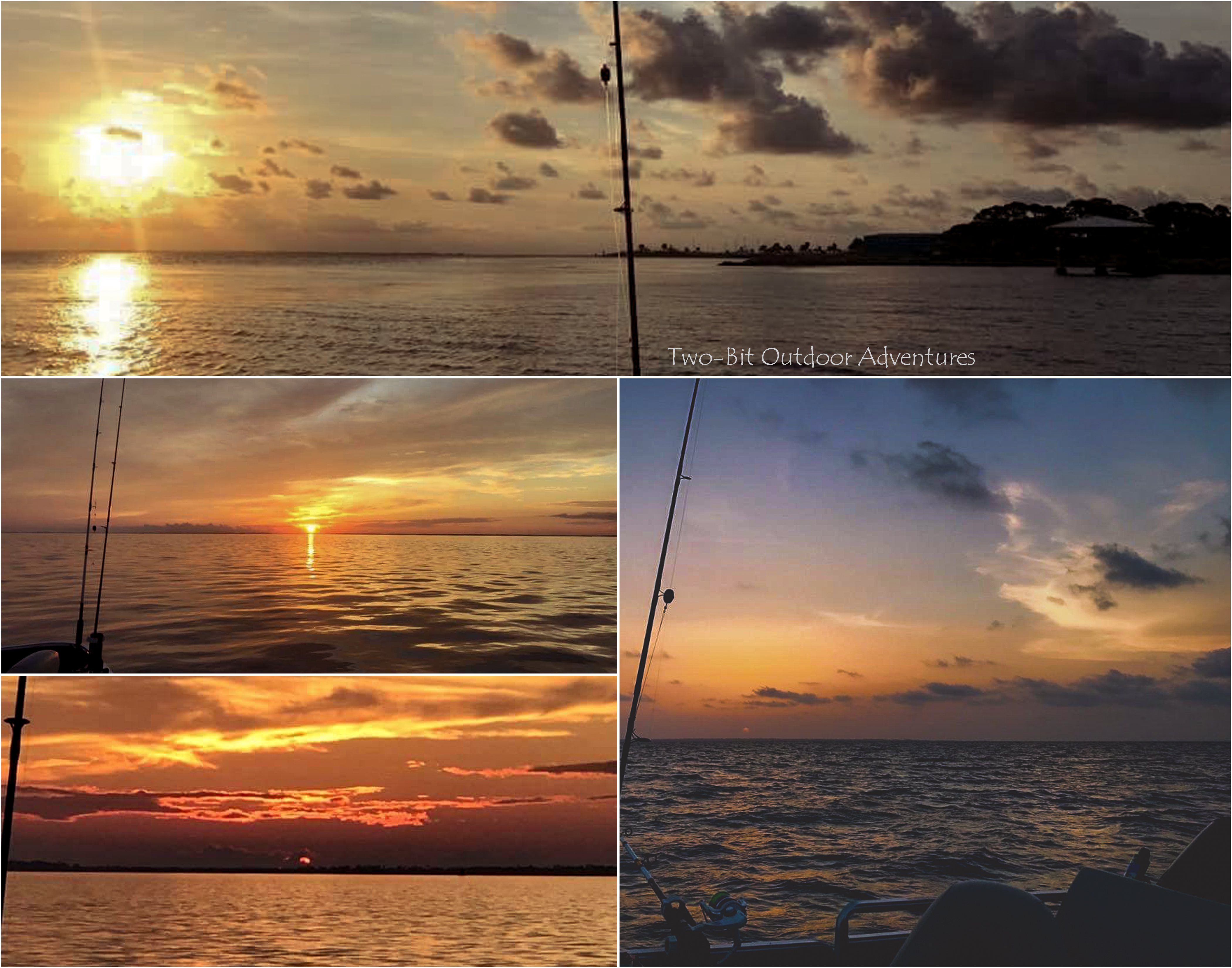 Sunset Charter Collage